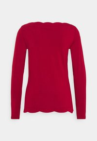 Esprit Collection - SCALLOP - Top sdlouhým rukávem - dark red - 1