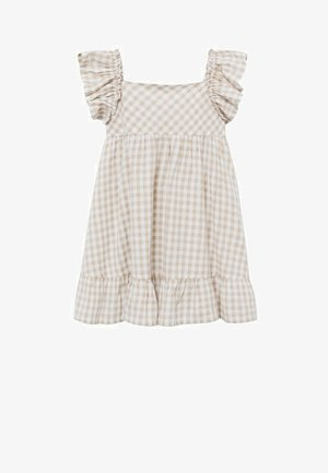 Korte jurk - écru