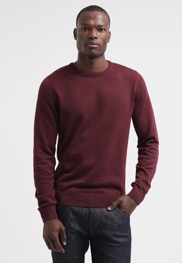 Pier One Sweter - bordeaux/bordowy Odzież Męska ZGQD