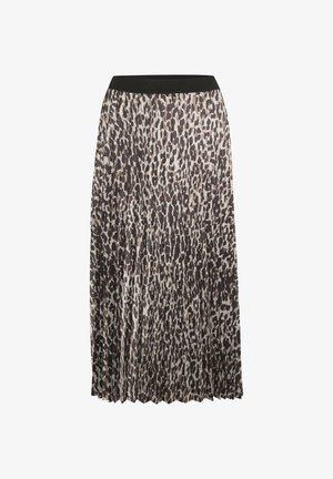 A-line skirt - ash grey wild leo