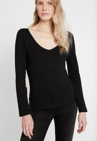 Anna Field - BASIC - Long sleeved top - black - 4