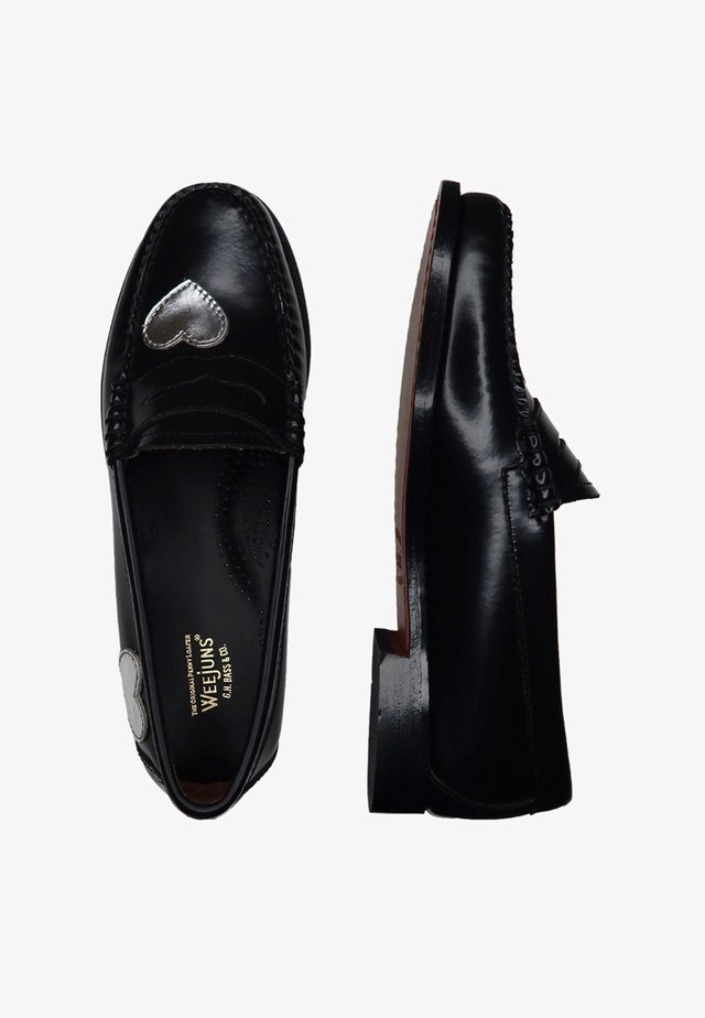 Slip-ons - black and silver