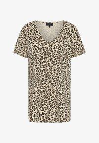 Live Unlimited London - ANIMAL - Print T-shirt - beige, black - 1