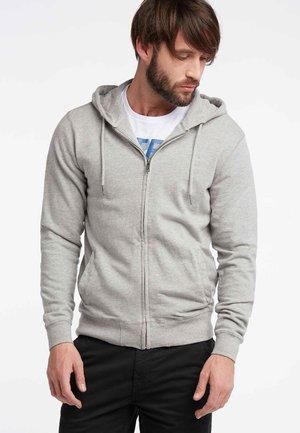 Zip-up sweatshirt - light grey melee