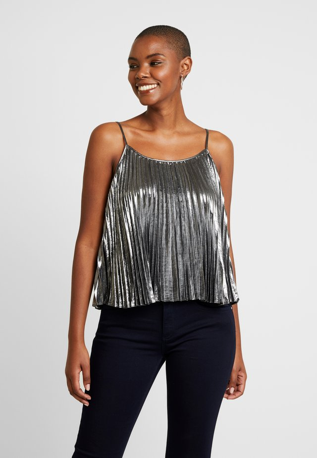 PLEATED CAMI - Toppi - silver