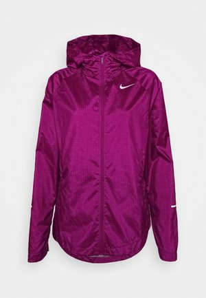 RUN JACKET - Laufjacke - red plum/silver