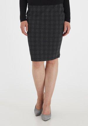 FRMECHECK - A-line skirt - raw melange