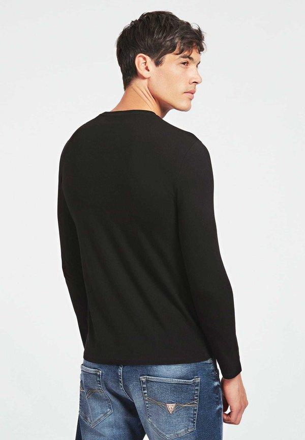 Guess Bluzka z długim rękawem - schwarz/czarny Odzież Męska FJHG