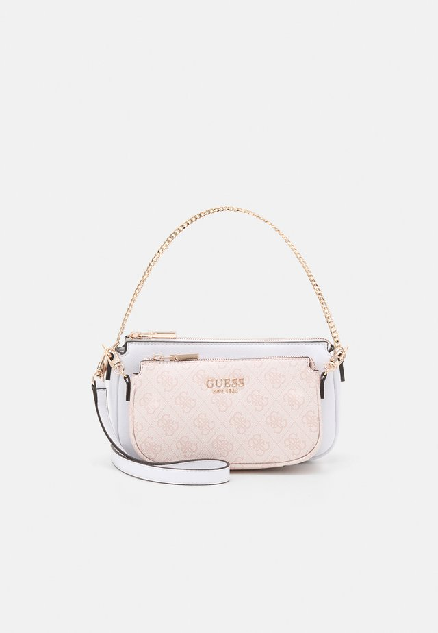 MIKA DOUBLE POUCH CROSSBODY SET - Axelremsväska - blush