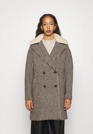 NINI PLAID COAT - Classic coat - black/white