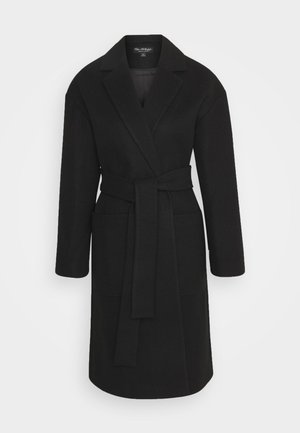 PATCH POCKET ROBE - Classic coat - black