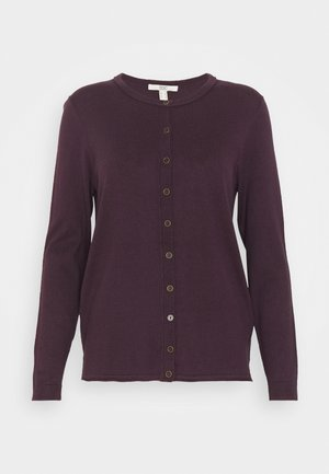 BASIC  - Strickjacke - aubergine