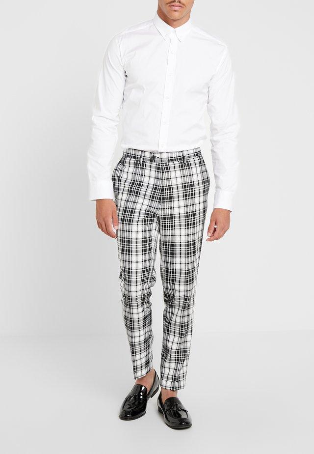 DALTON BOLD GRAPH CHECK - Trousers - ecru