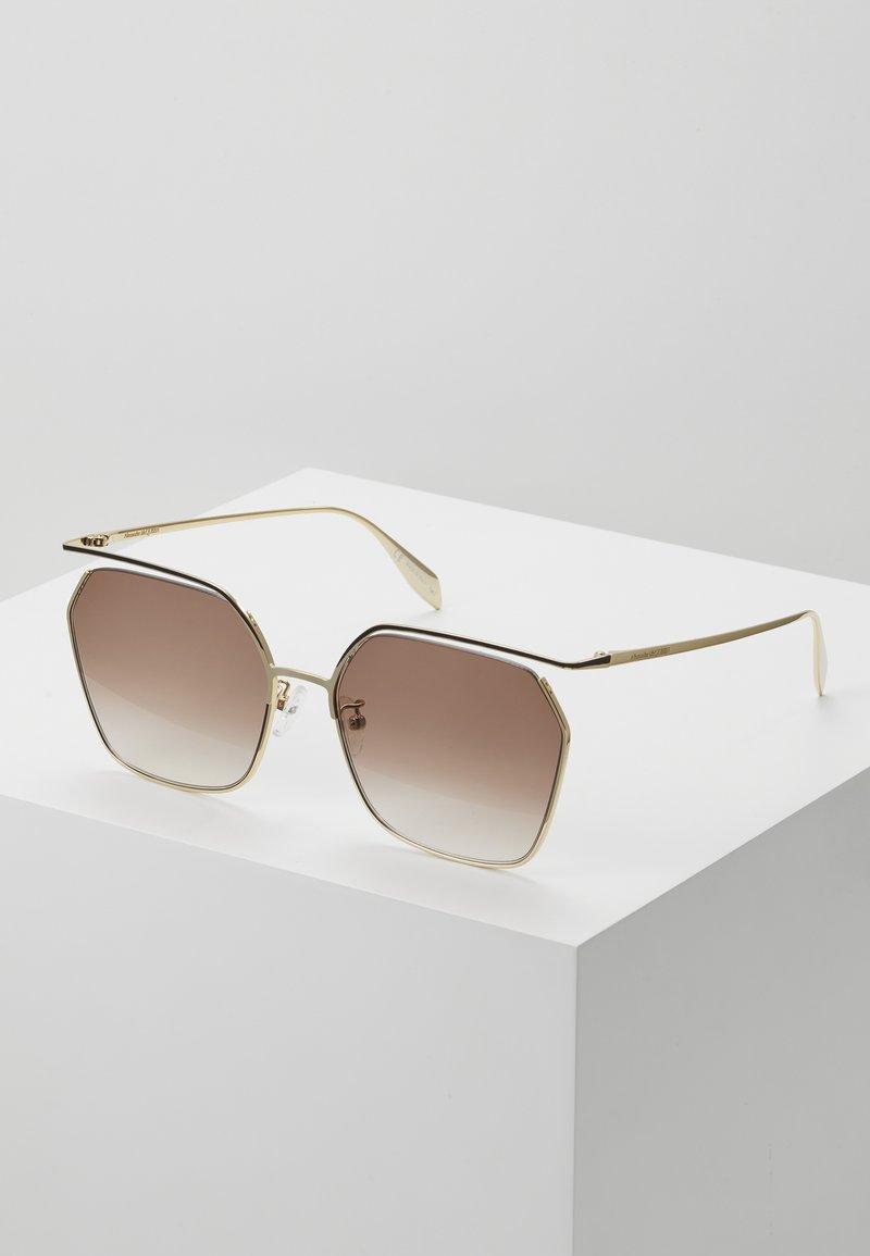 Alexander McQueen - SUNGLASS WOMAN  - Sunglasses - gold-coloured/brown