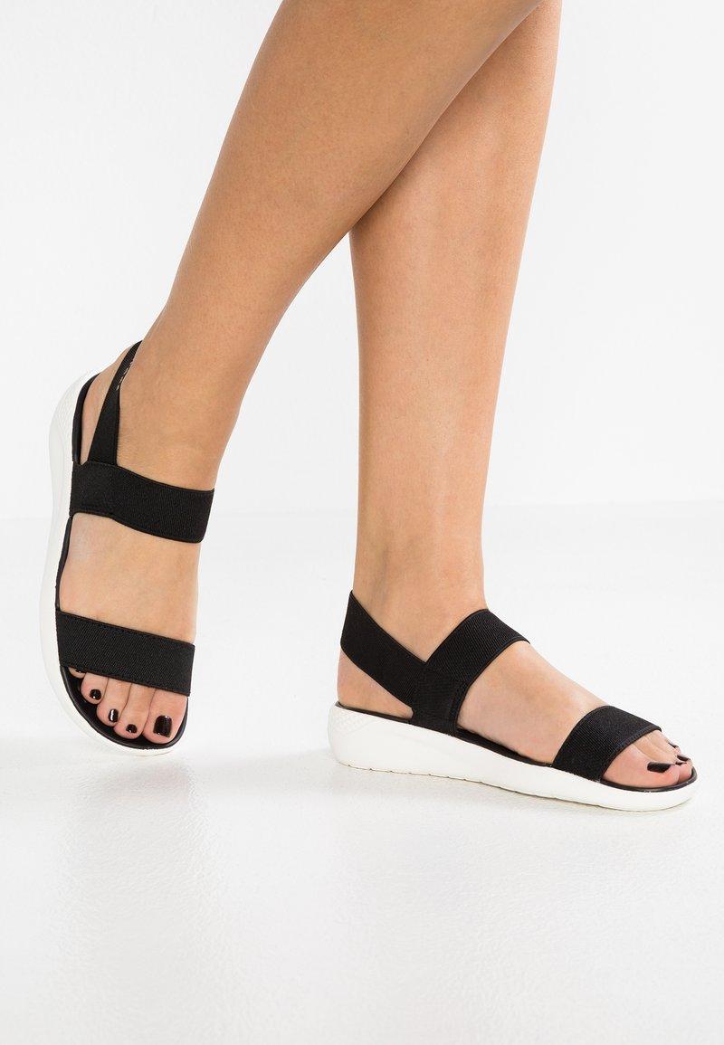 Crocs - LITERIDE - Sandals - black/white