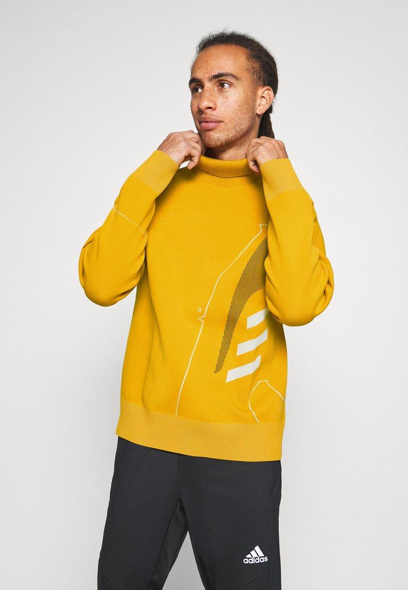 adidas Performance - ATHLETICS TECH SPORTS - Sweter - legacy gold