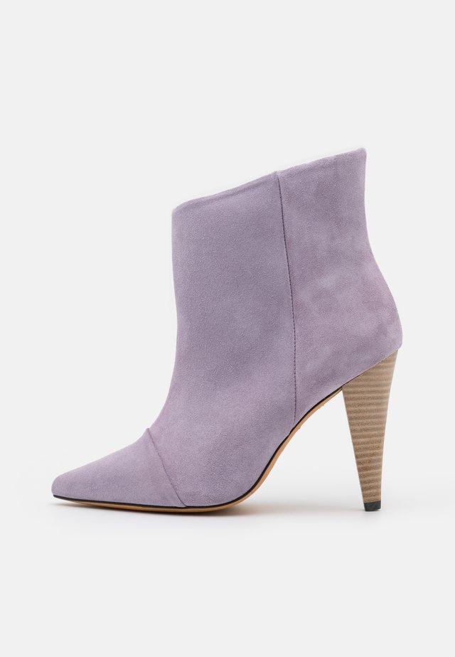 IMANOL - High heeled ankle boots - purple