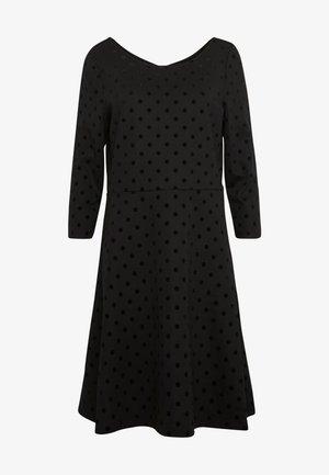 FLOCK DRESS - Jersey dress - black