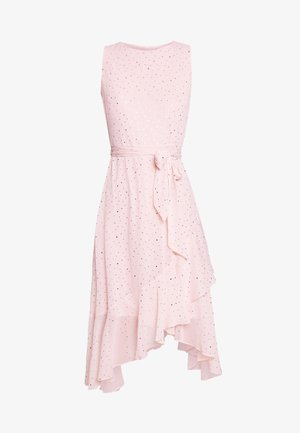 GLITTER TIERED DRESS - Sukienka letnia - blush