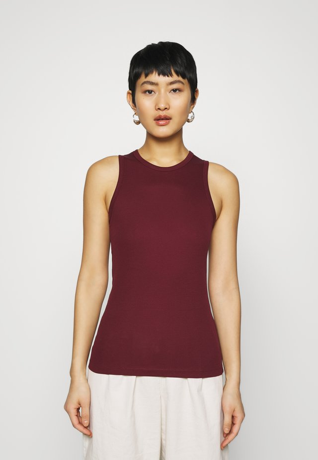 SLEEVELESS - Top - bordeaux