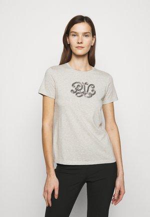 Print T-shirt - farro heather