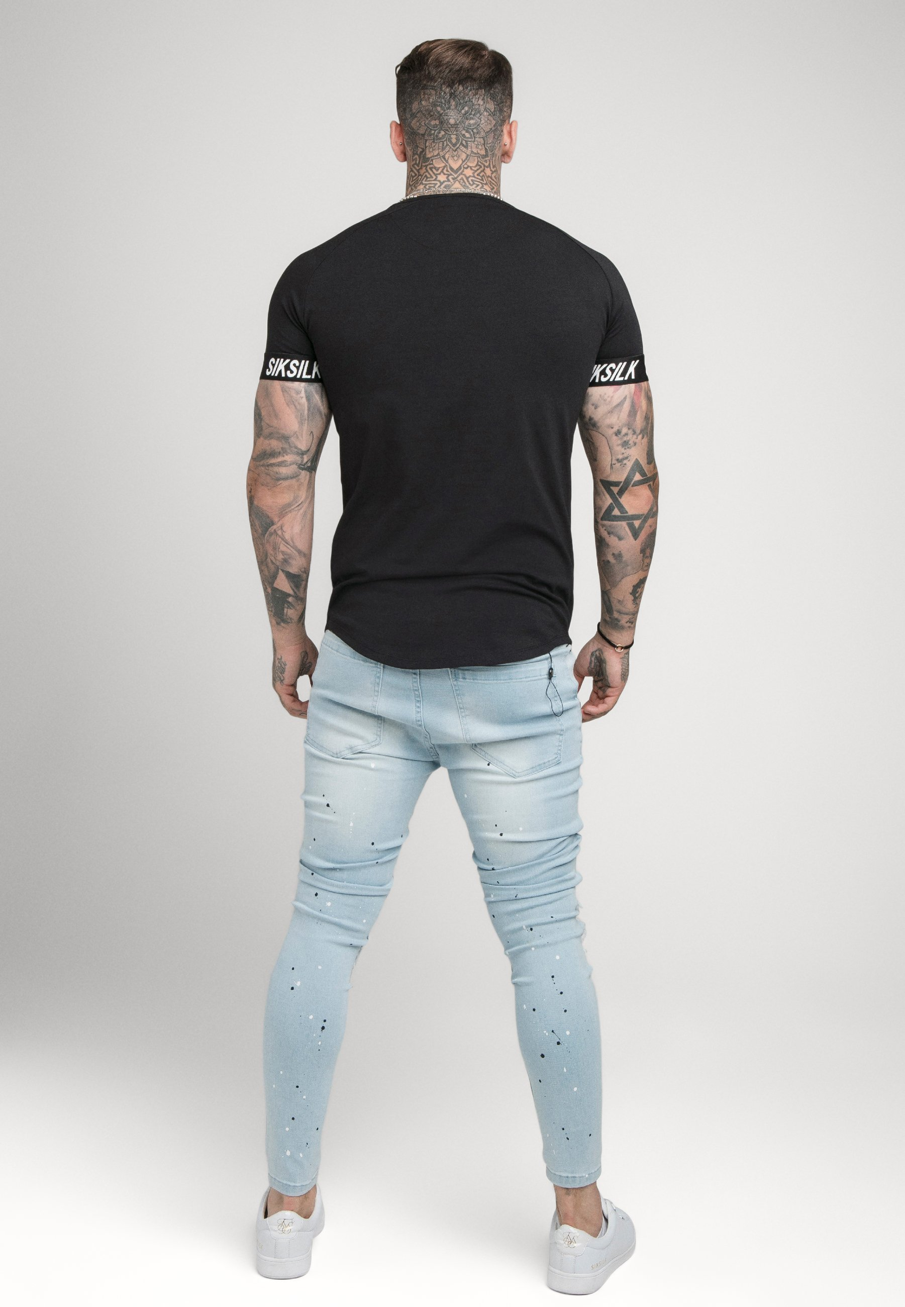 Herrer RAGLAN TECH TAPE TEE - T-shirts basic - black