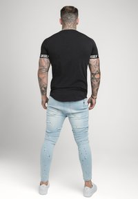 SIKSILK - RAGLAN TECH TAPE TEE - T-shirt - bas - black - 2