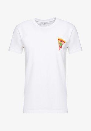 PIZZA TEE - Print T-shirt - white