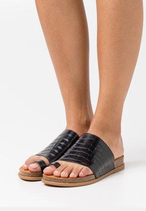 CALESIN - T-bar sandals - black