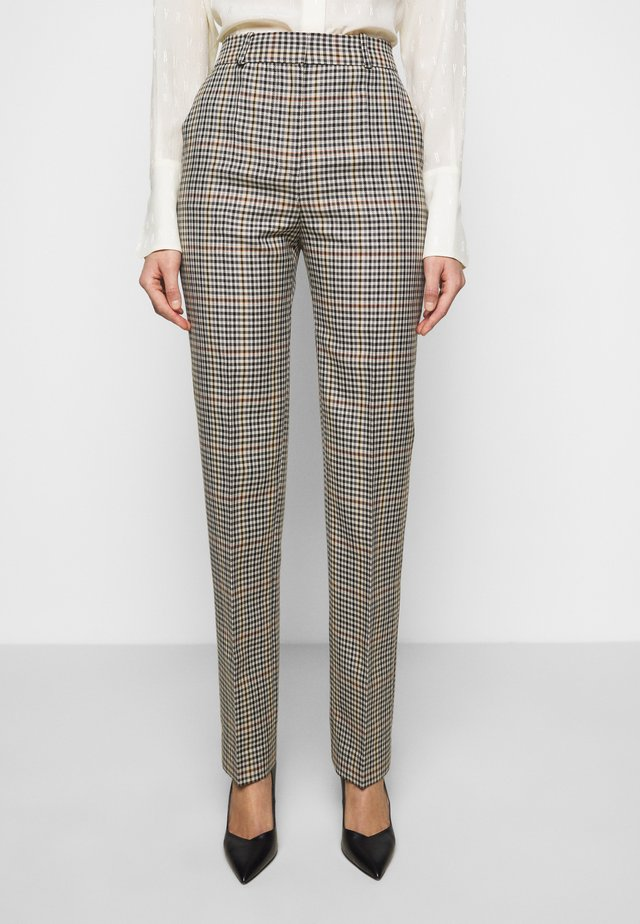 DRAINPIPE CHECK TROUSER - Broek - cream check