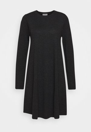 DRESS - Gebreide jurk - dark grey