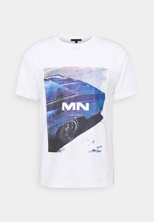 RETRO CAR REGULAR - T-shirt imprimé - white