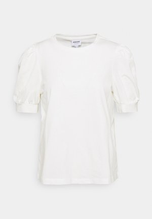 VMKERRY O NECK  - T-shirt print - snow white