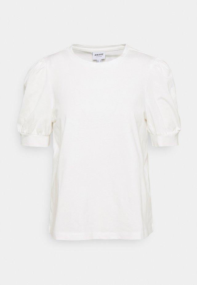 VMKERRY O NECK  - T-shirts med print - snow white