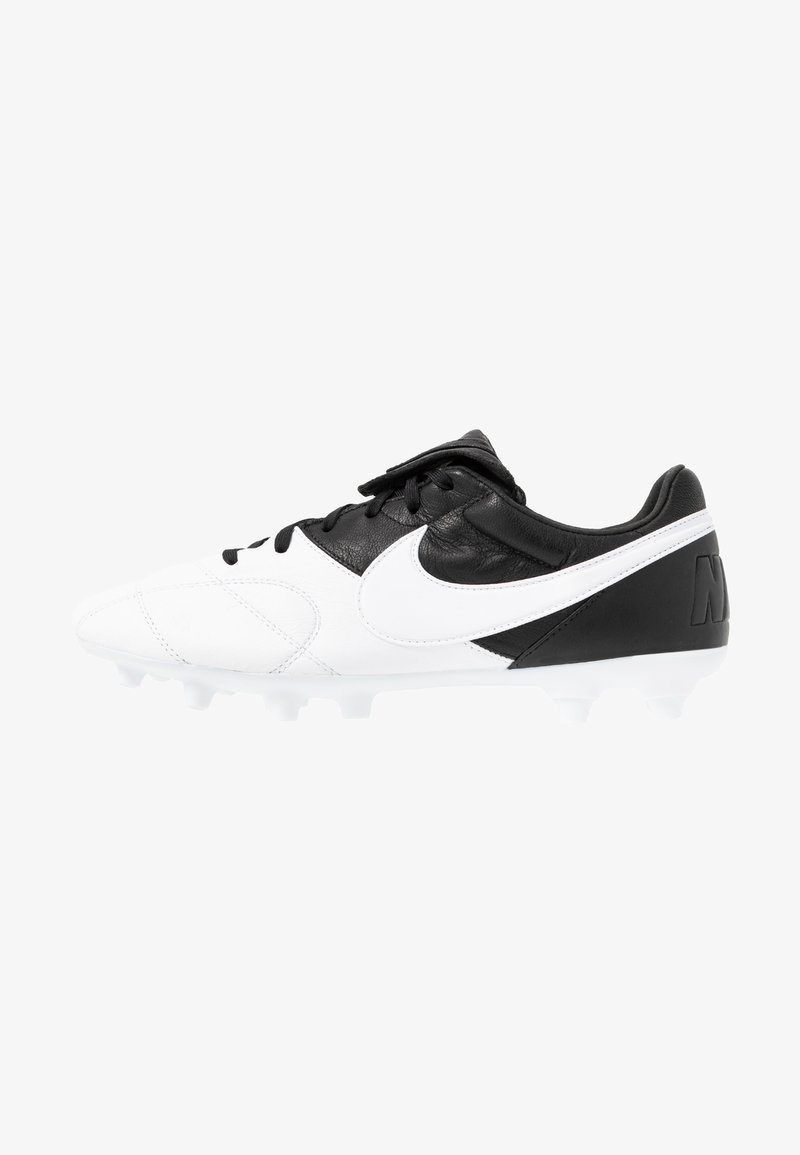 Nike Performance - PREMIER - Moulded stud football boots - white/black