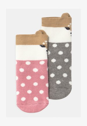 SOFTSTEP FAWN 2 PACK - Socks - grau/rosa
