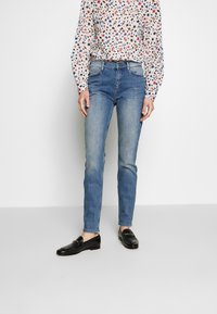 comma - TROUSERS - Jeans Skinny Fit - blue denim stretch - 0