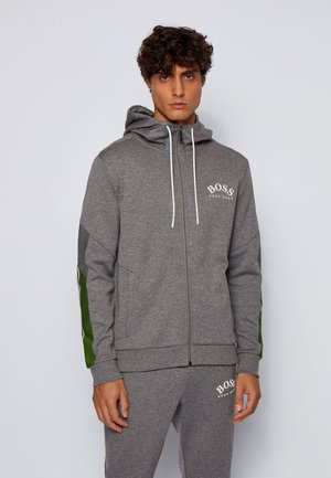 SAGGY - veste en sweat zippée - grey