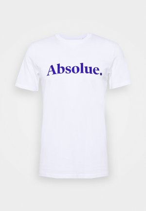 ABSOLUE - Triko s potiskem - white blue