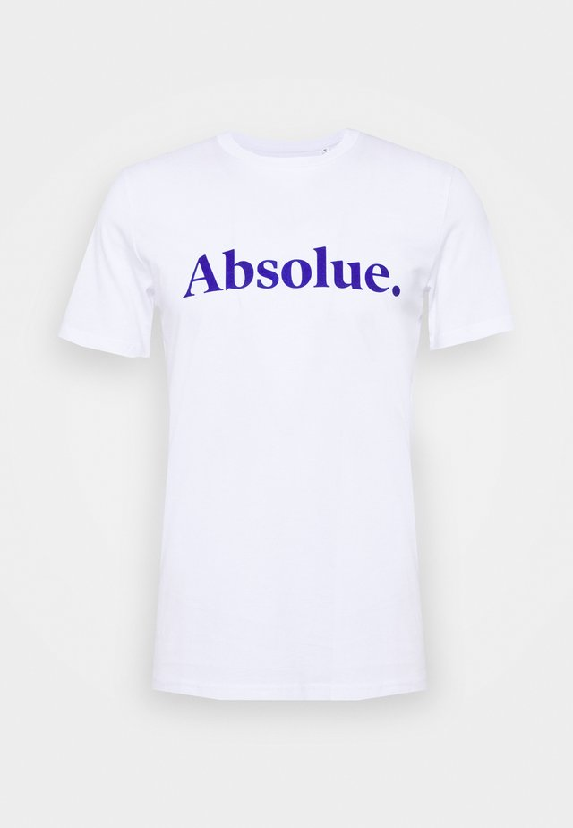 ABSOLUE - T-shirt med print - white blue