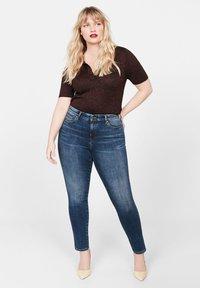 Violeta by Mango - IRENE - Jeans Skinny Fit - dark blue - 1