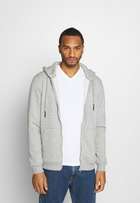 Only & Sons - ONSCERES LIFE  - Sudadera con cremallera - light grey - 0
