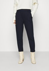 Benetton - TROUSERS - Trousers - navy - 0