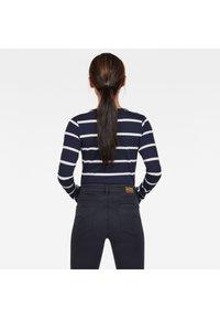 G-Star - CORE EYBEN SLIM U T WMN L\S - Long sleeved top - sartho blue monk stripe - 1