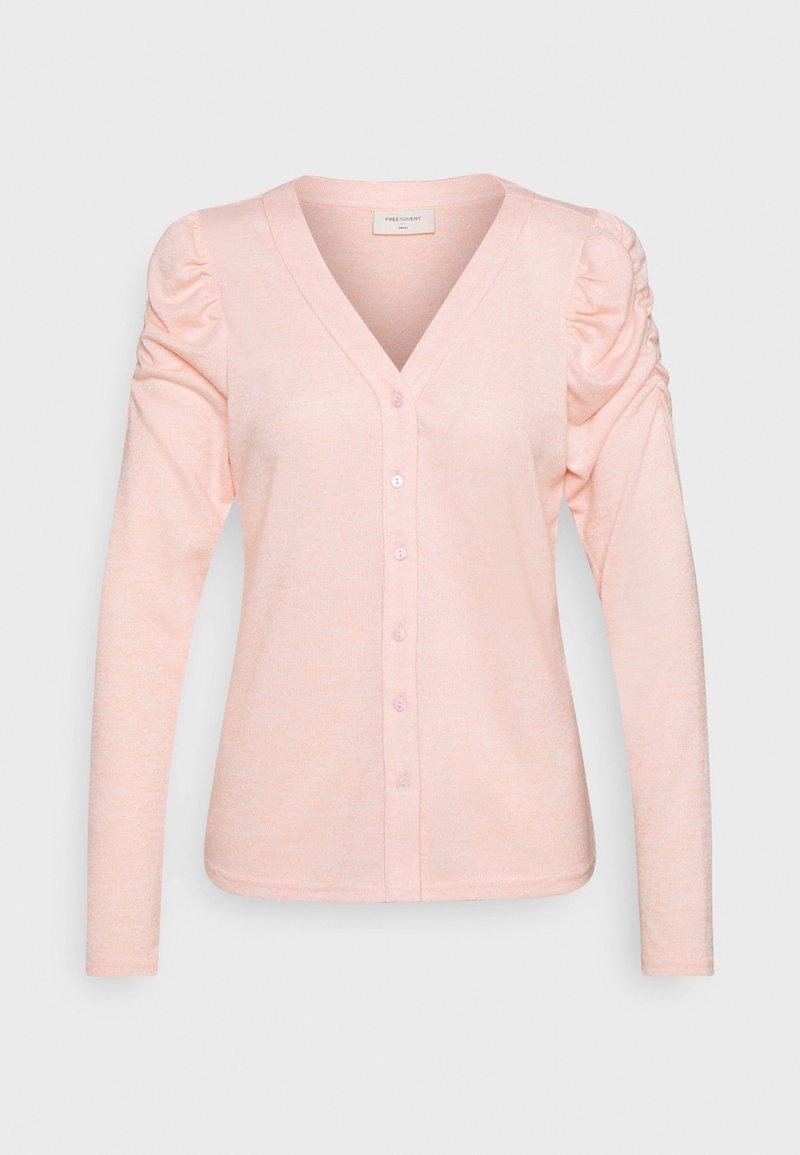 Freequent - FQLIVANA CAR - Cardigan - silver pink