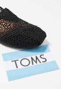TOMS - ALPARGATA - Scarpe senza lacci - black - 7