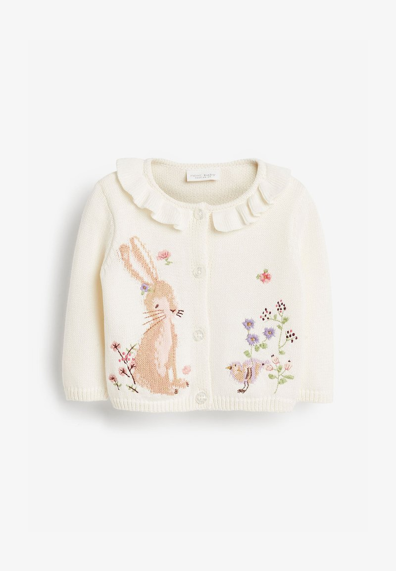 Next - BUNNY FRILL - Cardigan - off-white