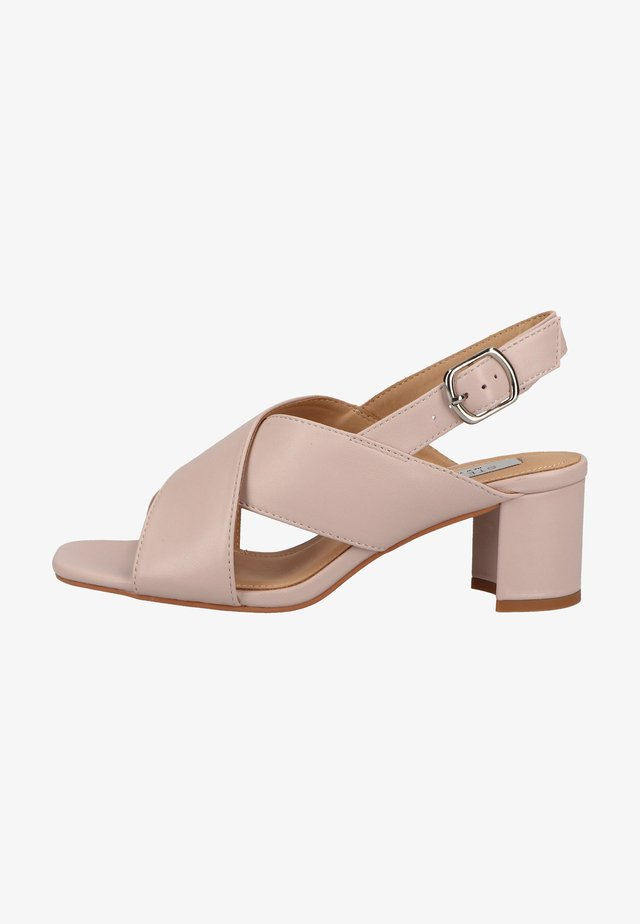 Sandals - blush leather