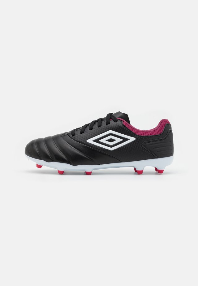 TOCCO CLUB FG - Moulded stud football boots - black/white/raspberry radiance/pink peacock