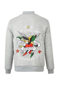 Ed Hardy - TILL DEATH BOMBER TRACKTOP - Zip-up hoodie - grey - 6